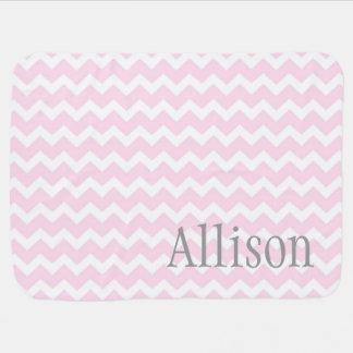 Manta conocida de encargo gris rosada del bebé de  mantita para bebé