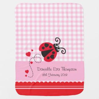 Manta conocida de encargo rosada de la fecha de la mantitas para bebé