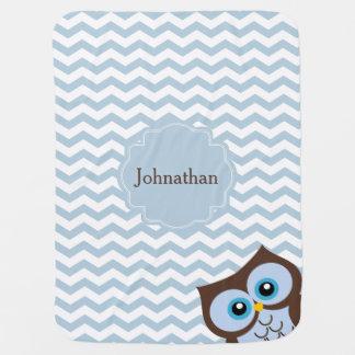 Manta de encargo azul linda del bebé del modelo de mantitas para bebé
