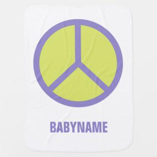 Manta de encargo del bebé del signo de la paz mantas de bebé
