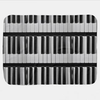 Manta de encargo del bebé del teclado de piano mantita para bebé