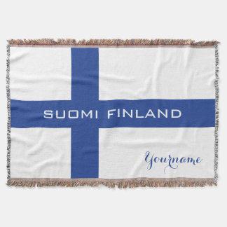 Manta de encargo del tiro de la bandera finlandesa