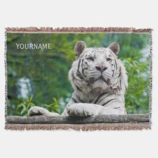 Manta de encargo del tiro del tigre blanco