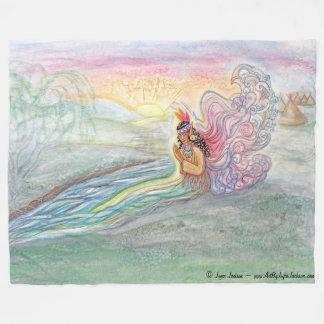 Manta de hadas del paño grueso y suave de la mujer manta de forro polar