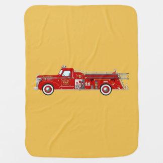 Manta de la autobomba/del motor del fuego del mantitas para bebé