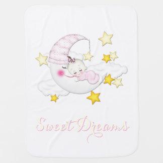 Manta de la niña de los sueños dulces mantita para bebé