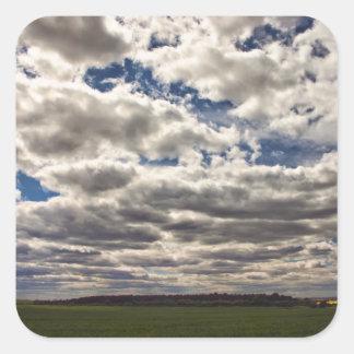 Manta de las nubes HDR Calcomanía Cuadradas Personalizadas