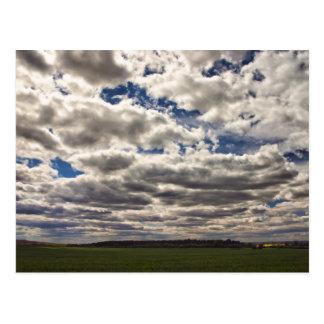 Manta de las nubes HDR Postal