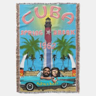 Manta de las vacaciones de primavera 1962 de Cuba