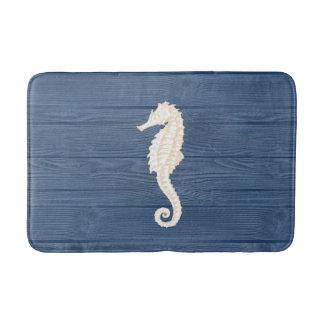Manta de madera azul del baño del vintage del