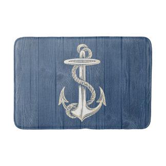 Manta de madera azul del baño del vintage poner