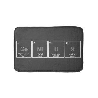 Manta del baño del genio de la tabla periódica