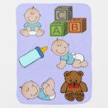 Manta del bebé azul de Little Boy Mantitas Para Bebé