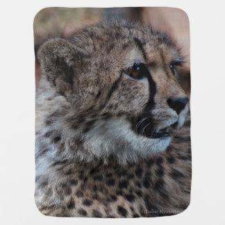 Manta del bebé con el cachorro del guepardo mantas de bebé