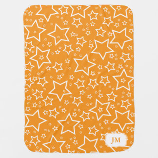 Manta del bebé con el naranja y el blanco de las e mantas de bebé