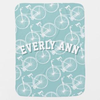 Manta del bebé de la bicicleta del vintage manta de bebé