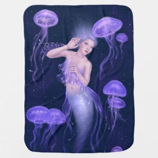 Manta del bebé de la sirena de las medusas de la b