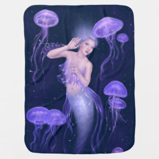 Manta del bebé de la sirena de las medusas de la mantitas para bebé