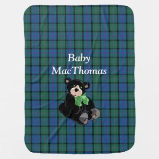Manta del bebé de la tela escocesa de tartán de Ma Manta De Bebé