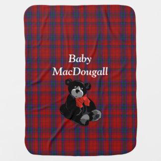 Manta del bebé de la tela escocesa de tartán de Ma Mantitas Para Bebé