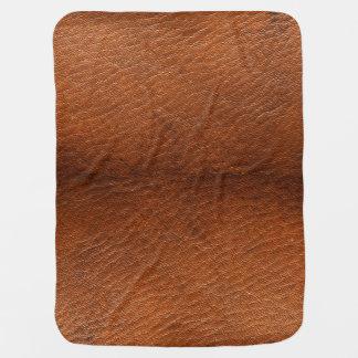 Manta del bebé de la textura del cuero de Brown Manta De Bebé