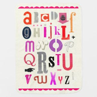 ¡Manta del bebé del alfabeto! Mantita Para Bebé