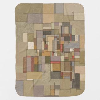 Manta del bebé del arte abstracto de los estratos mantitas para bebé