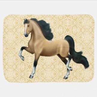 Manta del bebé del caballo de Saddlebred del ameri Mantas De Bebé