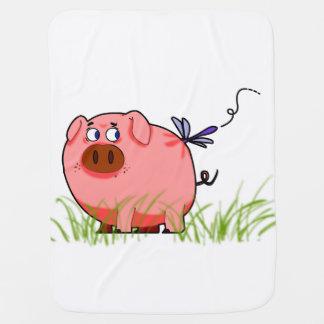 Manta del bebé del cerdo mantas de bebé