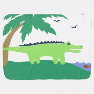 Manta del bebé del cocodrilo, cielo del safari de  mantita para bebé