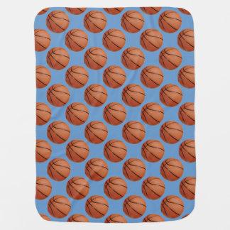 Manta del bebé del diseño del baloncesto mantita para bebé
