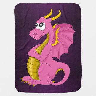 Manta del bebé del dragón del dibujo animado mantitas para bebé
