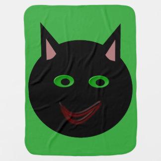 Manta del bebé del gato negro de Halloween Mantas De Bebé
