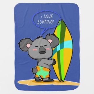 Manta del bebé del oso de koala de la resaca mantitas para bebé