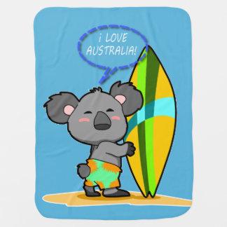 Manta del bebé del oso de koala de la resaca mantas de bebé