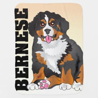 Manta del bebé del perro de montaña de Bernese Mantas De Bebé