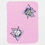 Manta del bebé del rosa de la RÁFAGA de los gatos  Mantita Para Bebé