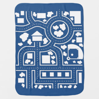 Manta del camino - azul mantas de bebé