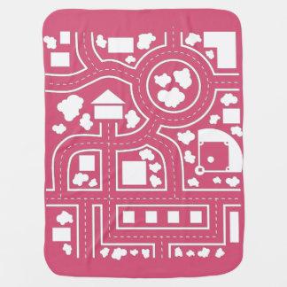 Manta del camino - rosa mantas de bebé