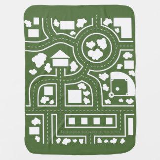 Manta del camino - verde mantas de bebé