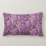 Manta del diseño floral de las violetas púrpuras cojin