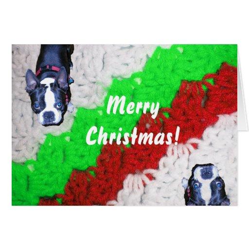 Manta del ganchillo del navidad felicitaciones