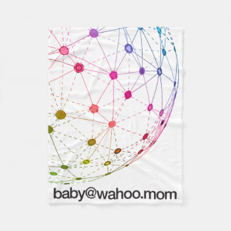 """manta del paño grueso y suave de """"baby@wahoo.mom"""" manta de forro polar"""