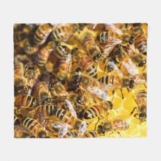 Manta del paño grueso y suave de las abejas de la