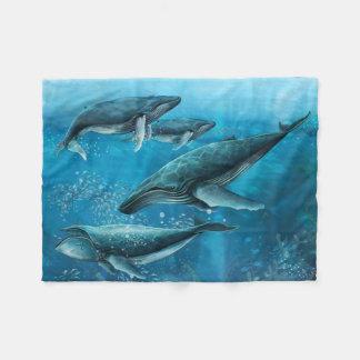 Manta del paño grueso y suave de las ballenas del manta de forro polar
