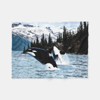 Manta del paño grueso y suave de las orcas manta de forro polar