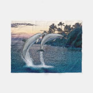 Manta del paño grueso y suave de los delfínes de manta de forro polar