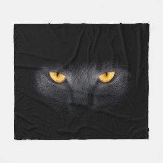Manta del paño grueso y suave de los ojos de gato