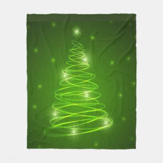 Manta del paño grueso y suave del árbol de navidad manta de forro polar