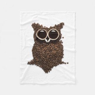 Manta del paño grueso y suave del búho del café